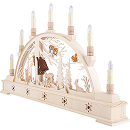 Candle Arch Deer Forest with Base - 63x35 cm / 24.8x13.8 inch