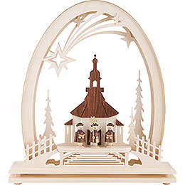 Seidel Arch Seiffen Church with Carolers - 31x33 cm / 12.2x13 inch