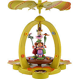 1-Tier Pyramid with Flower Children - Colored - 32 cm / 12.6 inch
