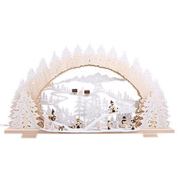 Candle Arch - Sledding on Goat Mountain - 72x41x7 cm / 28x16x5 inch