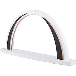 Candle Arch - modern wood - WHITE LINE - without Figurines - 57x26 cm / 22.4x10.2 inch