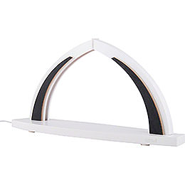 Candle Arch - modern wood - WHITE LINE - without Figurines - 41x20 cm / 16.1x7.9 inch