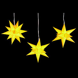 Erzgebirge-Palace Moravian Star Set of Three Yellow incl. Lighting - 17 cm / 6.7 inch