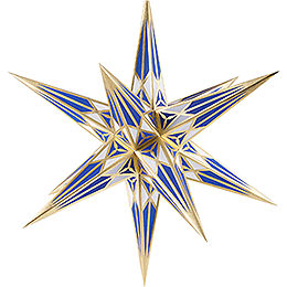 Hartenstein Christmas Star for Inside Use - White-Blue with Gold - 68 cm / 27 inch