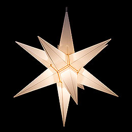 Hasslau Christmas Star - White and Lighting - 65 cm / 25.6 inch - Inside Use