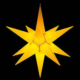 Hasslau Christmas Star - Yellow and Lighting - 75 cm / 30 inch -  Inside/Outside Use