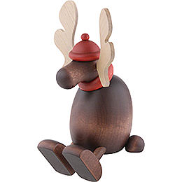 Moose Olaf Sitting on a Shelf - 15 cm / 5.9 inch