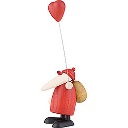 Santa Claus with Heart - 9 cm / 3.5 inch