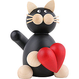 Cat Hilde with Heart - 8 cm / 3.1 inch
