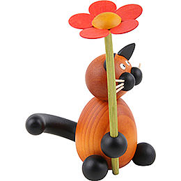 Cat Bommel with Flower - 8 cm / 3.1 inch