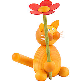 Cat Emmi with Flower - 8 cm / 3.1 inch