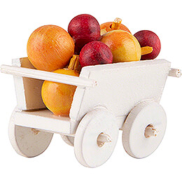 Hand Cart with Apples - 2,4 cm / 0.9 inch