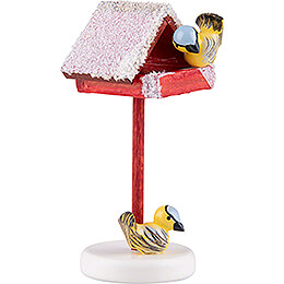 Bird House with Titmouse - 4,5 cm / 1.7 inch
