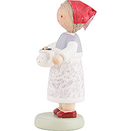 Flax Haired Children Berry Collector - 5 cm / 2 inch