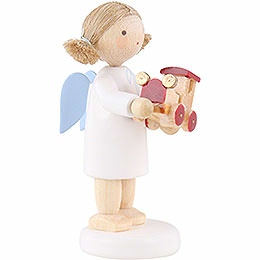 Flax Haired Angel with Toy Car - 5 cm / 2 inch