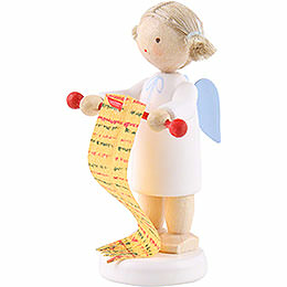 Flax Haired Angel with Knitting Needles - 5 cm / 2 inch