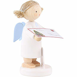 Flax Haired Angel with Letter to Christ Child - 5 cm / 2 inch