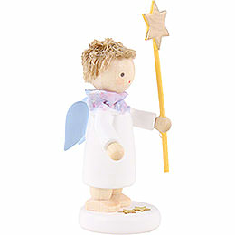 Flax Haired Angel with Star 2015 - 5 cm / 2 inch