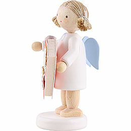 Flax Haired Angel with Bakery Book (13) - 5 cm / 2 inch