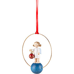 Tree Ornament - Angel with Tree Ball - 7 cm / 2.8 inch