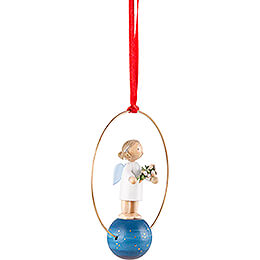 Tree Ornament - Angel with Mistletoe - 7 cm / 2.8 inch