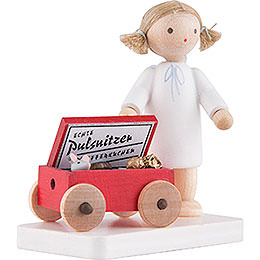 Flax Haired Angel with Pulsnitzer Gingerbread - 5 cm / 2 inch