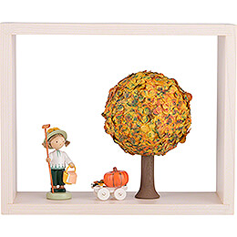 Apple Tree in Frame - without  Figurines - Autumn - 13,5 cm / 5.3 inch