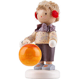Flax Haired Children Little Boy with Lampion - Edition Flade & Friends - 4 cm / 1.6 inch