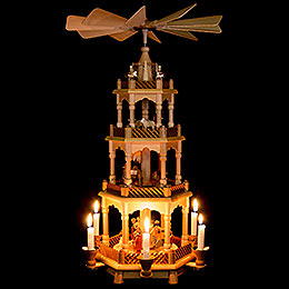 4-Tier Pyramid - Nativity, Natural - 58 cm / 23 inch