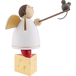 Guardian Angel Balancing on Cheese - 8 cm / 3.1 inch