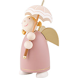 Guardian Angel with Umbrella, Rose Wood - 8 cm / 3.1 inch