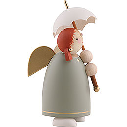Guardian Angel with Umbrella, Green - 8 cm / 3.1 inch