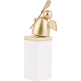 Guardian Angel Gold with Gingko Leaf - 8 cm / 3.1 inch