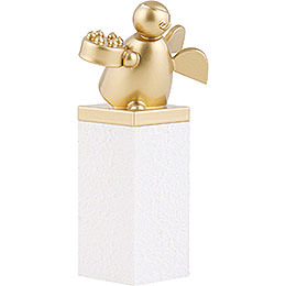 Guardian Angel Gold with Fancy Cake - 8 cm / 3.1 inch