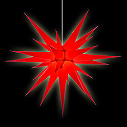 Herrnhuter Moravian Star I8 Red Paper - 80cm/31 inch