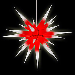 Herrnhuter Moravian Star I8 White with Red Core Paper - 80cm/31 inch