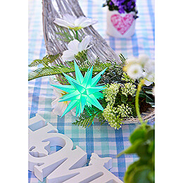 Herrnhuter Moravian Star A1e Mint Green Plastic, Special Edition 2020 - 13 cm / 5.1 inch