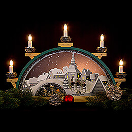 Candle Arch - Johannis Mine of Seifen with Miners - 55x31 cm / 21.7x12 inch