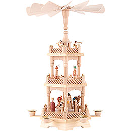 3-Tier Pyramid - Nativity, Natural 49 cm / 19.5 inch
