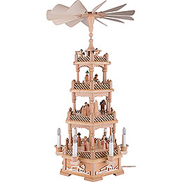 4-Tier Pyramid - Nativity, Natural, Electric - 61 cm / 24.1 inch