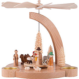 1-Tier Pyramid Nativity - 25 cm / 9.8 inch