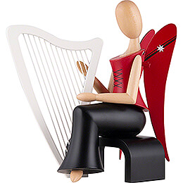 Sternkopf Angel with Harp Sitting - 15,5 cm / 6.1 inch