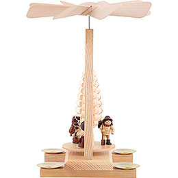 1-Tier Pyramid - Forest People - Natural - 26 cm / 10.2 inch