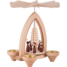 1-Tier Pyramid - Carolers - Natural - 26 cm / 10.2 inch