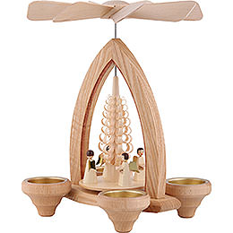 1-Tier Pyramid - Angels - Natural - 26 cm / 10.2 inch