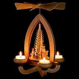 1-Tier Pyramid - Nativity - Natural - 28 cm / 11 inch