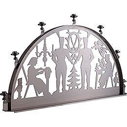 Candle Arch for Inside - Stainless Steel - Miner - 60x35 cm / 23.6x13.8 inch
