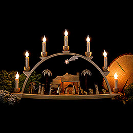 Candle Arch - Nativity Scene Natural - 60x35 cm / 23.6x13.8 inch