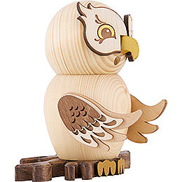 Smoker - Owl Natural Wood - 15 cm / 5.9 inch