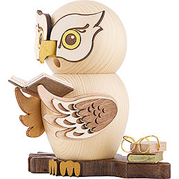 Smoker - Owl with Books - 15 cm / 5.9 inch